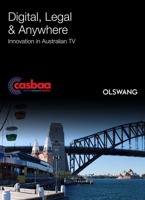 Digital, Legal and Anywhere Innovation in Australia TV