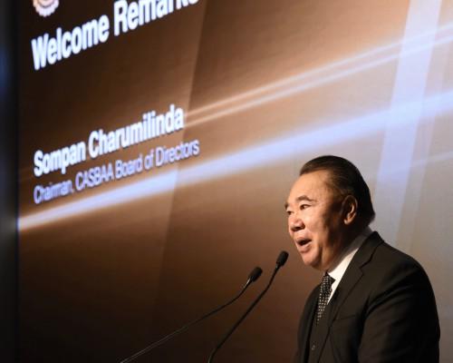CASBAA Chairman, Sompan Charumilinda, kicks off at the CASBAA Convention 2016 and congratulates the 25th anniversary of CASBAA
