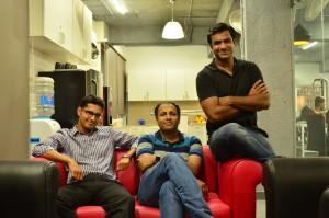 L to R - Zapr Co-Founders Deepak Baid, Sajo Mathews, Sandipan Mondal